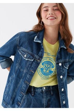 Mavi Kadın Karla Gold Icon Koyu Jean Ceket 110154-30105 0