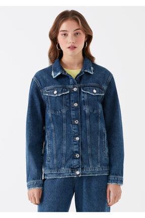 Mavi Kadın Karla Gold Icon Koyu Jean Ceket 110154-30105 2