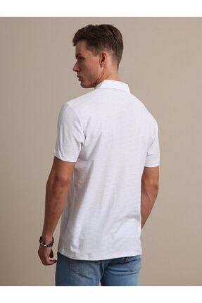 Kip Erkek Beyaz Jakarlı Örme T - Shirt 3