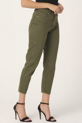 its basic Kadın Yüksek Bel Haki Renk Mom Jean 1