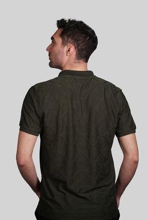 İgs Erkek Haki Slim Fit Polo Yaka T-shirt 2