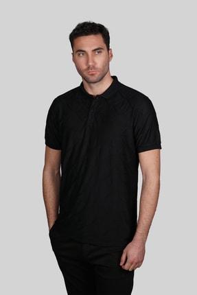 İgs Erkek Siyah Slim Fit  Polo Yaka T-shirt 1