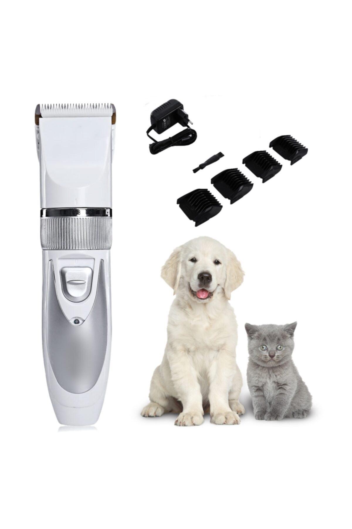 Çift Bataryalı Evcil Hayvan Tüy Kesme Kedi Köpek Traş Tıraş Makinesi Seti