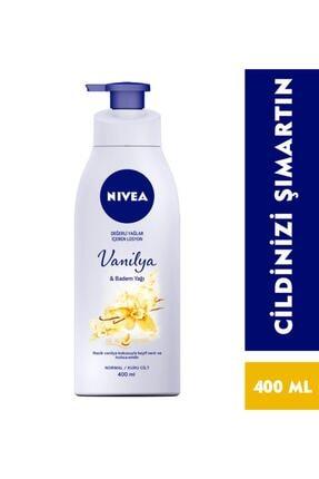 Nivea Pump Vanilya & Badem Yağı Vücut Losyonu 400 Ml 0