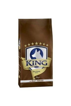 King Köpek Maması Biftekli 15 Kg 0