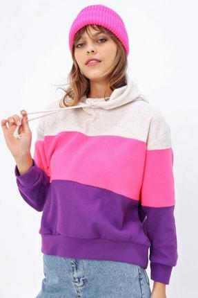 Ecrou Kadın 3 Renkli Yumoş Polar Sweatshirt 1