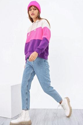 Ecrou Kadın 3 Renkli Yumoş Polar Sweatshirt 2