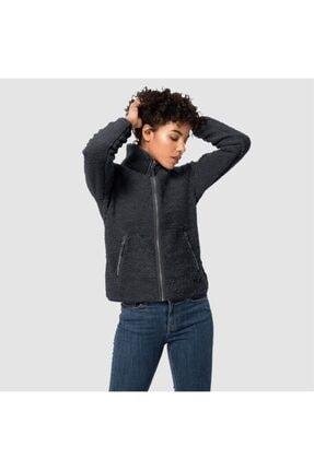 Jack Wolfskin Kadın Siyah Outdoor Spor Sweatshirt 0