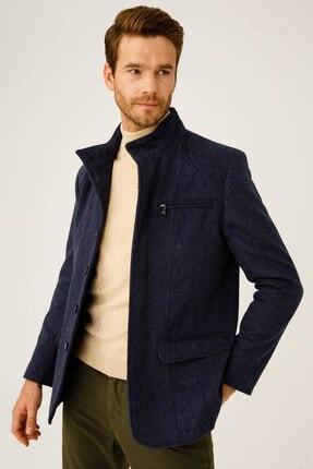 İgs Erkek Mavi Modern Fit Palto 1