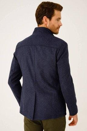 İgs Erkek Mavi Modern Fit Palto 2