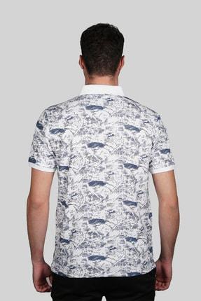 İgs Erkek Beyaz Modern Fit Polo Yaka T-shirt 2