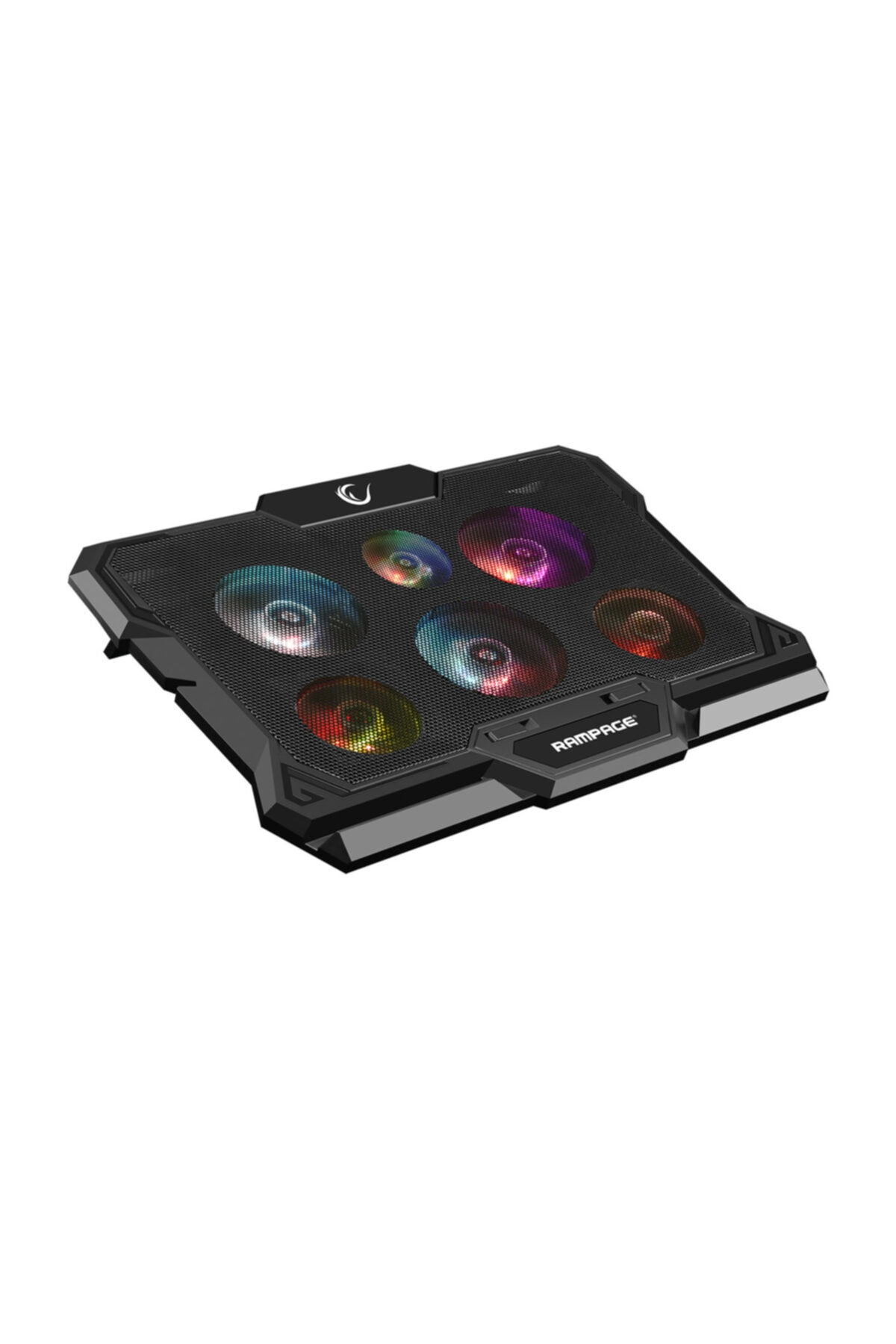 Rampage Ad-rc10 X-gust Siyah 6 Fanlı Renkli Işıklandırmalı Notebook Soğutucu Stand