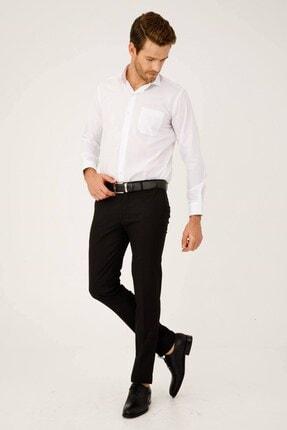 İgs Erkek Siyah Slım Fıt Dar Kalıp Std Pantolon 0
