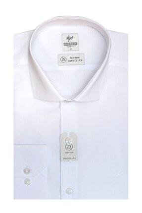 İgs Erkek Beyaz Slım Fıt Dar Kalıp Std Gömlek 1