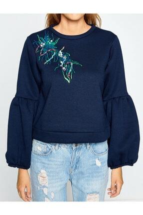 Koton Kadın Lacivert Sweatshirt 8KAL11582JK 2