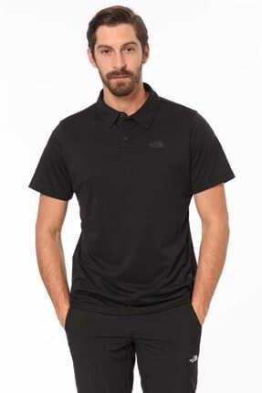 The North Face Tanken Polo Erkek T-shirt Siyah 0