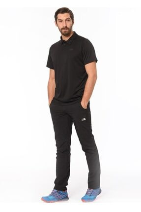 The North Face Tanken Polo Erkek T-shirt Siyah 2