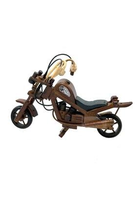 Dünyadan Hediyeler Dekoratif Ahşap Motosiklet 28 Cm 1