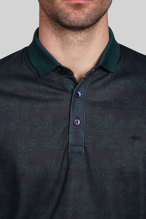 İgs Erkek Lacivert Modern Fit  Polo Yaka T-shirt 0