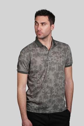 İgs Erkek Haki Modern Fit Polo Yaka T-shirt 0