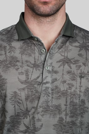 İgs Erkek Haki Modern Fit Polo Yaka T-shirt 3