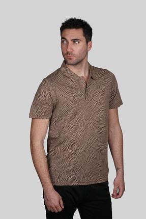 İgs Erkek Taba Modern Fit Tişört 0