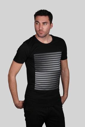 İgs Erkek Siyah Slim Fit T-shirt 0