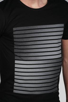 İgs Erkek Siyah Slim Fit T-shirt 3