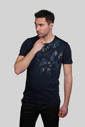 İgs Erkek Lacivert Slim Fit Tişört 0