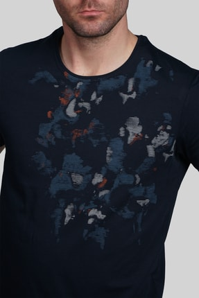 İgs Erkek Lacivert Slim Fit Tişört 3