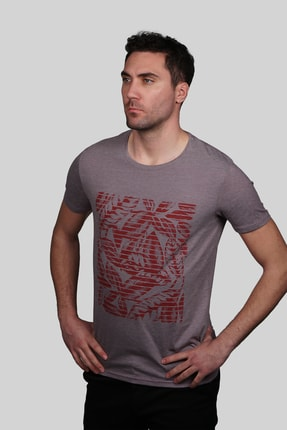 İgs Erkek Mürdüm Slim Fit T-shirt 0