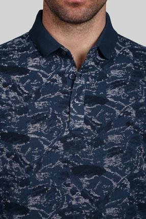 İgs Erkek Marin Modern Fit Polo Yaka T-shirt 3