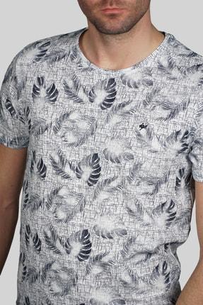 İgs Erkek Beyaz Slim Fit Tişört 3