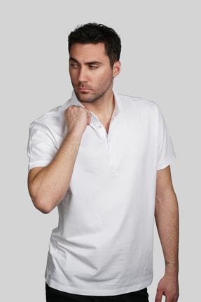 İgs Erkek Beyaz Slim Fit Polo Yaka T-shirt 1