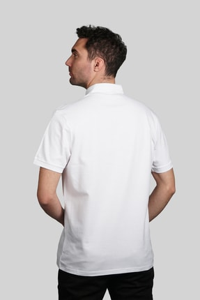 İgs Erkek Beyaz Slim Fit Polo Yaka T-shirt 2