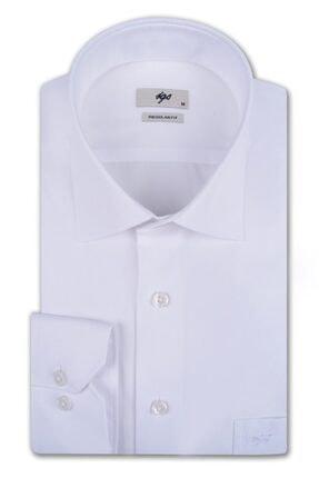 İgs Erkek Beyaz Regular Fit Gömlek 0