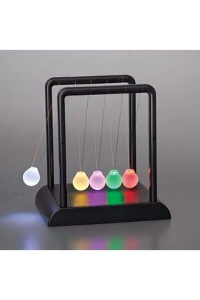 MOS'EV Newton's Cradle Light Up Turuncu Işıklı Newton Topları 0