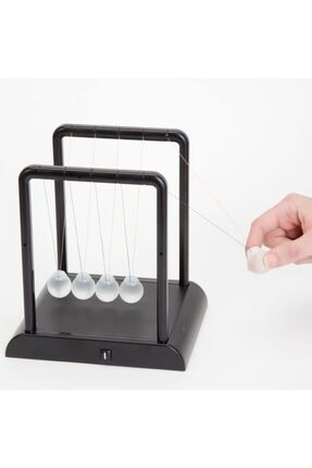 MOS'EV Newton's Cradle Light Up Turuncu Işıklı Newton Topları 1