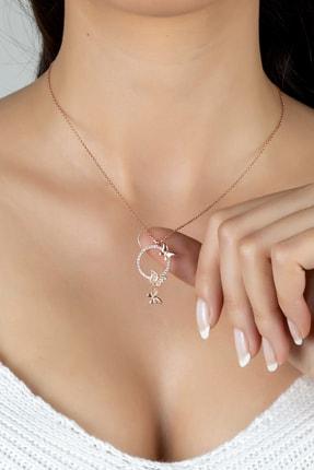 Else Silver Özel Tasarım Aşk Kelebekleri Gümüş Kolye 0
