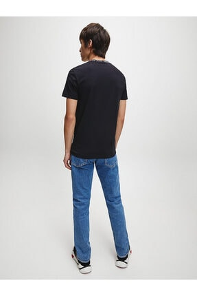 Calvin Klein Erkek Siyah Kısa Kollu Örme Tshirt 2