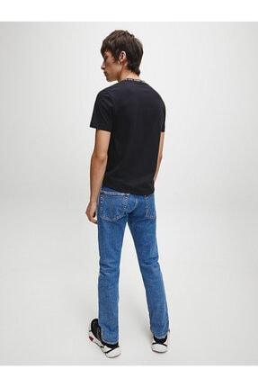 Calvin Klein Erkek Siyah Kısa Kollu Örme Tshirt 4