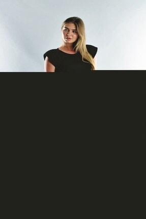 Cotton Mood Kadın Siyah Viskon Vatkalı Kısa Elbise 1