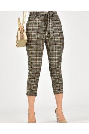Çarşım Mağazaları Kadın  Ekose Balıksırtı Pantolon 2