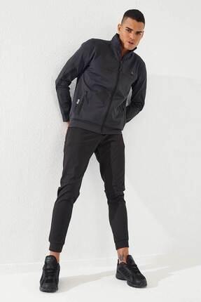تصویر از Erkek Antrasit-Siyah Sport Klasik Cep Detaylı  Dalgıç Eşofman Takım