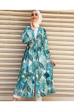 EKABE Kadın Mavi Desenli Kimono 0