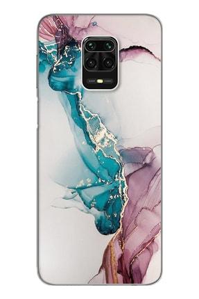 Spoyi Duman Mermer Tasarımlı Süper Şeffaf Silikon Telefon Kılıfı Xiomai Redmi Note 9 Pro - Note 9s 0