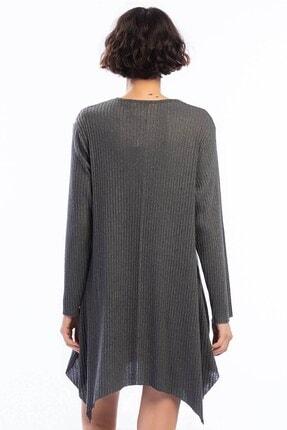 Cotton Mood Kadın Füme Kalın Fitilli Uzun Kol Çan Tunik 9361104 2