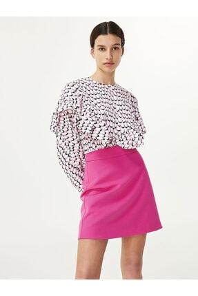 Twist Kadın Pembe Crop Bluz 1