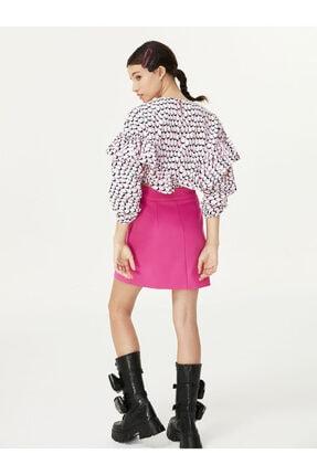 Twist Kadın Pembe Crop Bluz 3