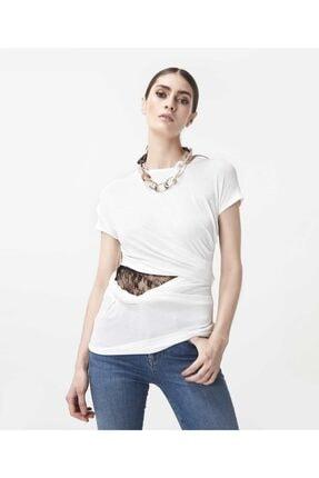 İpekyol Kadın Beyaz Bel Detaylı Tshirt 0